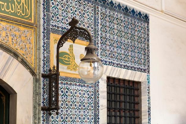 Interior do palácio topkapi em istambul, turquia
