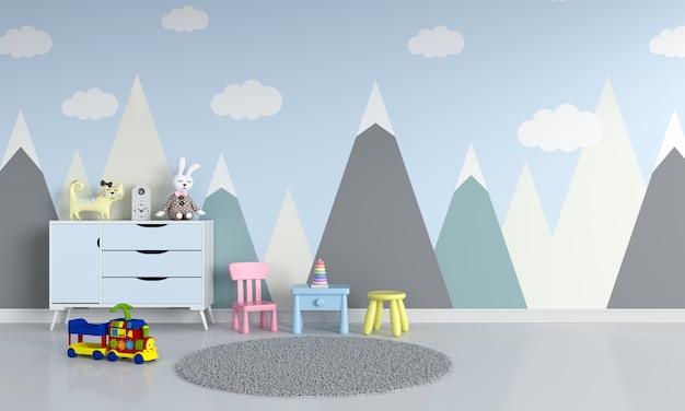 Interior do quarto de criança