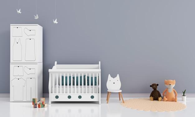 Interior do quarto infantil com espaço livre