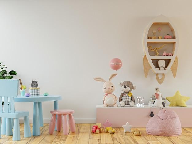 Interior do quarto infantil moderno