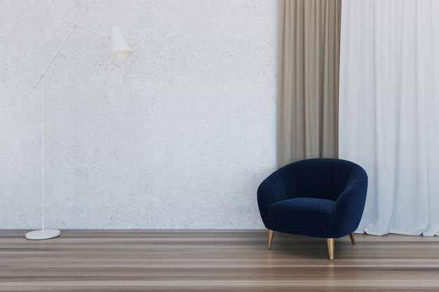 Interior do quarto vazio