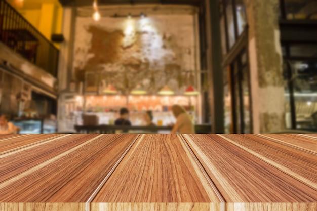 Interior do restaurante turva abstrata para plano de fundo