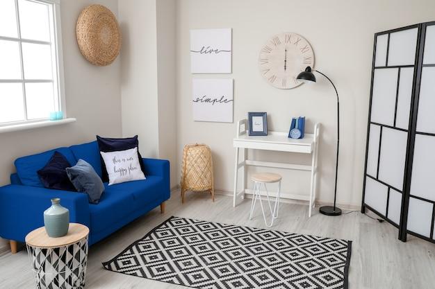 Interior elegante da sala de estar