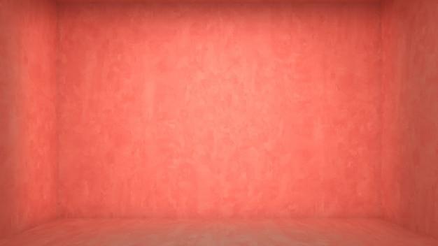 Interior living room pink modelo de piso de parede de concreto