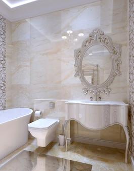 Interior luxuoso do banheiro