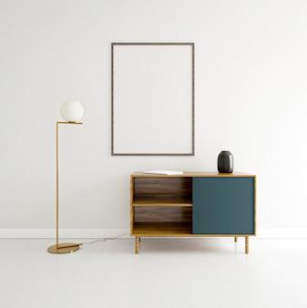 Interior minimalista com moldura elegante