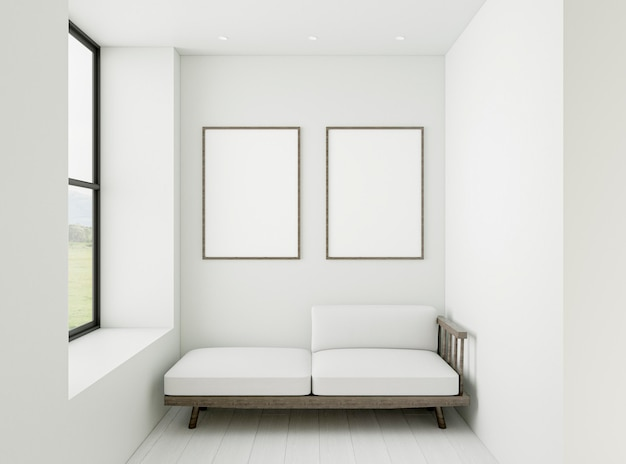 Interior minimalista com molduras elegantes