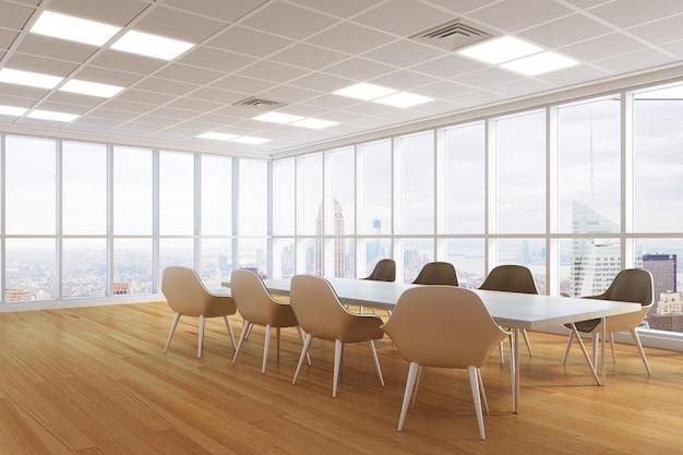 Interior moderna sala de conferências