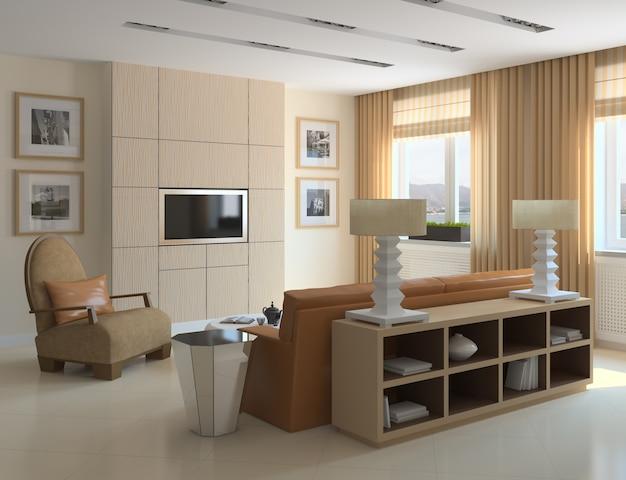 Interior moderno apartamento