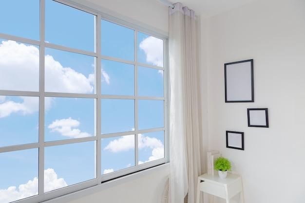 Interior moderno brilhante quarto