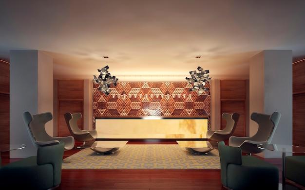 Interior moderno da recepção