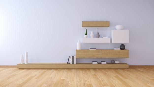 Interior moderno da sala de estar e estilo acolhedor de vida