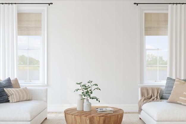 Interior moderno da sala de estar. maquete de interior. renderização 3d.