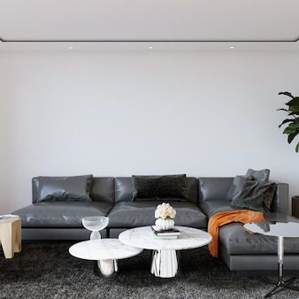 Interior moderno da sala de estar