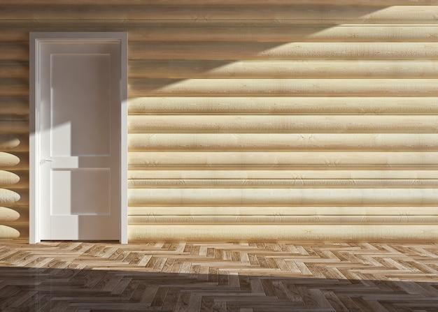 Interior moderno de casa de madeira