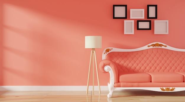 Interior moderno de luxo da sala de estar