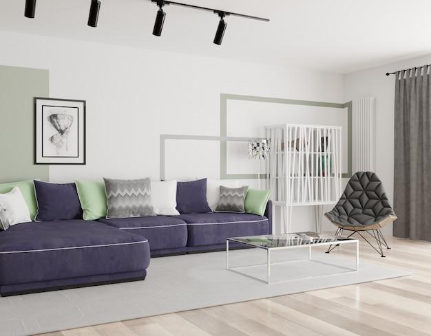 Interior moderno de uma sala de estar