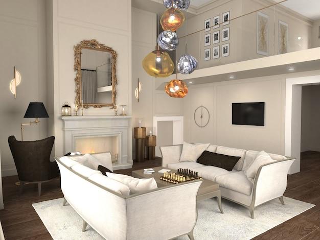 Interior moderno do apartamento