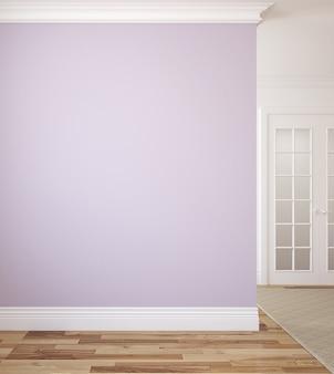 Interior moderno do corredor. renderização 3d.