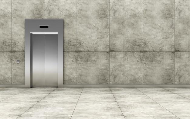 Interior moderno do hall do elevador