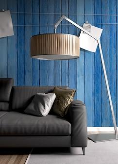 Interior moderno e brilhante com bela decoração
