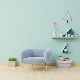 Interior moderno e minimalista da sala de estar tem lâmpada