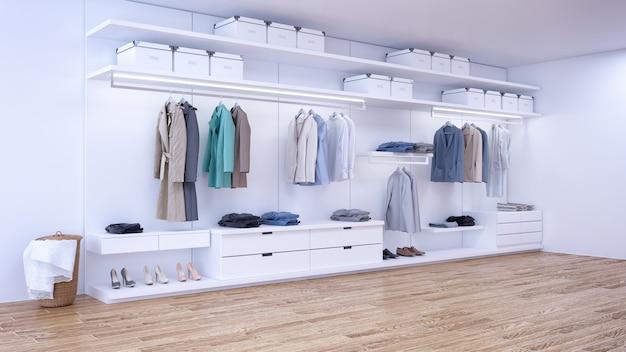 Interior moderno e minimalista de camarim
