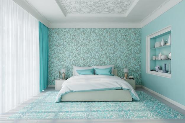 Interior moderno quarto de luxo