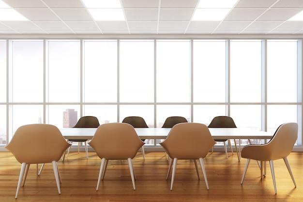 Interior moderno sala de reunião