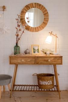 Interior na sala de estar