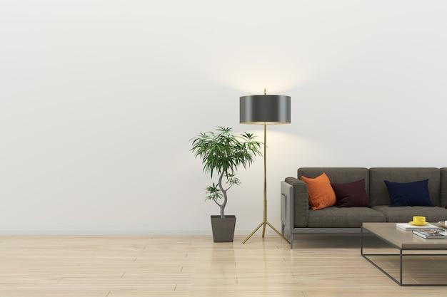 Interior sala de estar moderna piso de madeira parede textura de fundo de mármore
