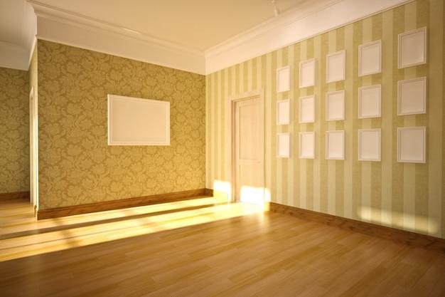 Interior vazio em estilo clássico