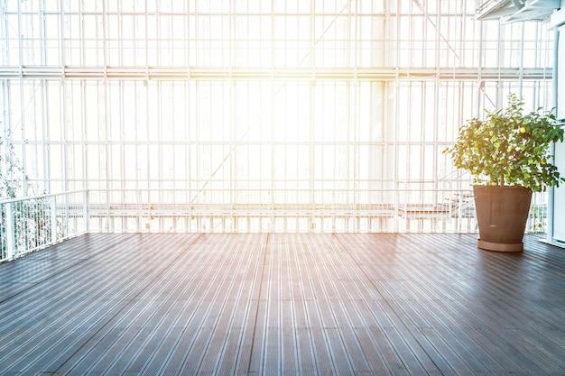 Interior vazio moderno com bela luz solar
