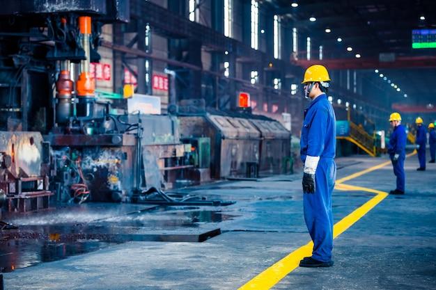 Interior, vista, aço, fábrica
