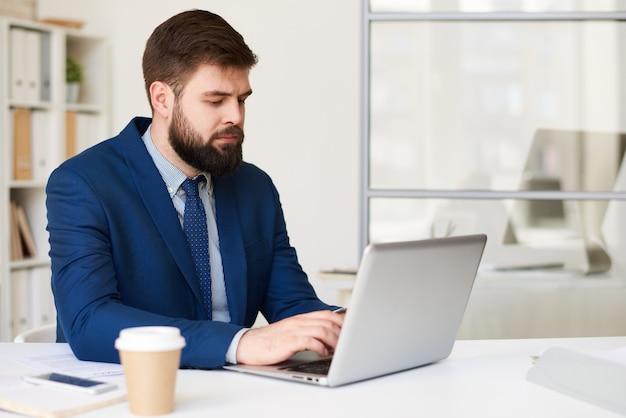 Internet de navegação do empresário