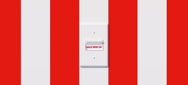 Interruptor branco com a letra