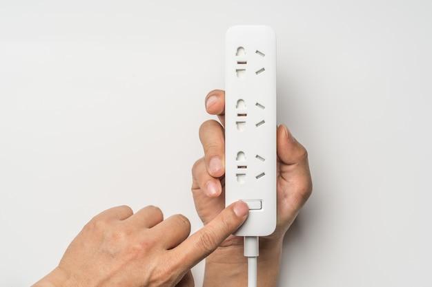 Interruptor de mão on / off socket plugue barra de energia elétrica