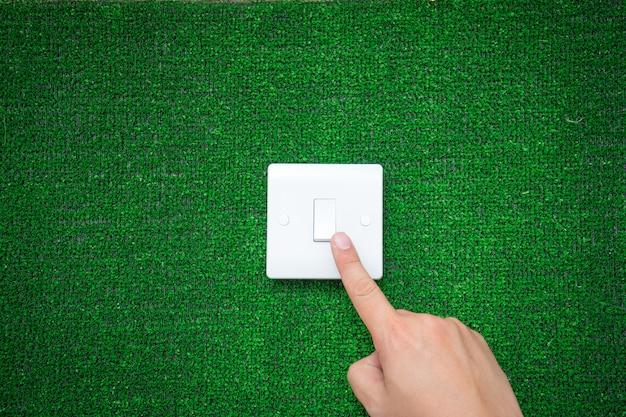 Interruptor elétrico para o conceito de energia verde