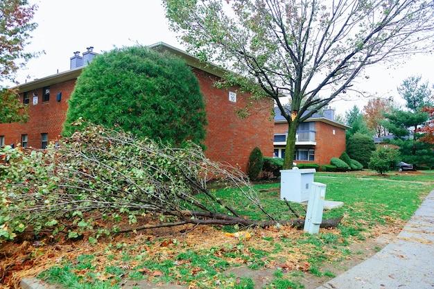 Inundação do furacão e danos do vento