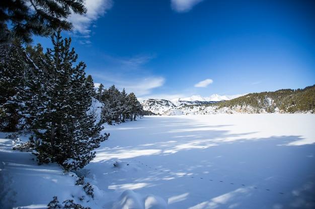Inverno em capcir, pirineus, frança
