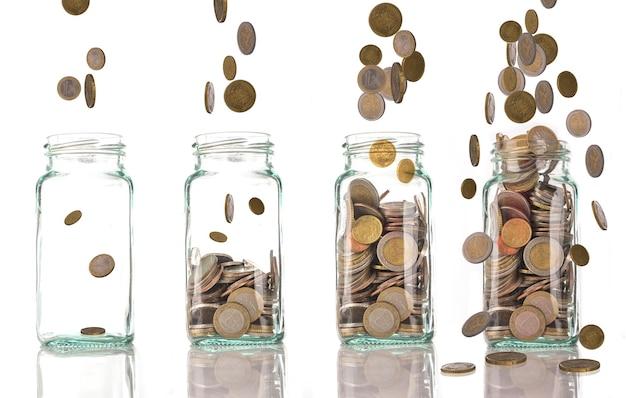 Investimento crescente de dinheiro para o seu mercado de negócios.