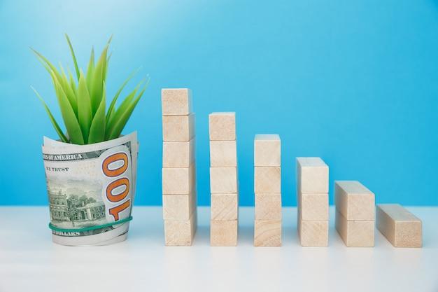 Investimento de capital. desenvolvimento de serviços bancários e seguros