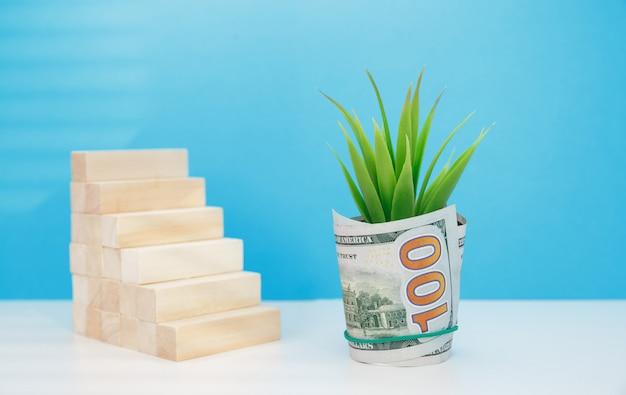 Investimento em crescimento de receita e crescimento de lucro. desenvolvimento de negócios