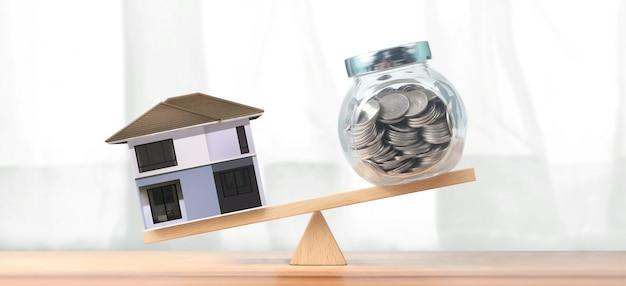 Investimento imobiliário e conceito financeiro de hipoteca da casa