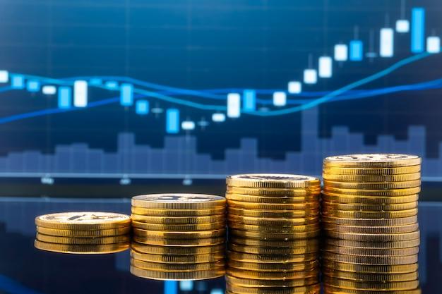 Investimento no mercado de ações e negociação.