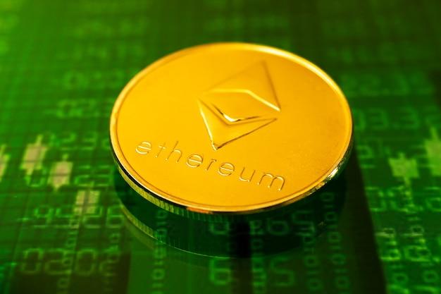 Investir na criptomoeda ethereum eth, foto do conceito de crescimento