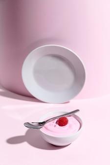 Iogurte com framboesa