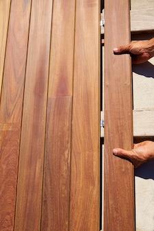 Ipe convés instalação de madeira deck clipes fixadores