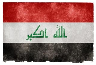 Iraque grunge bandeira