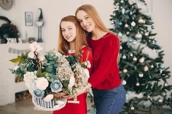 Irmãs em casa